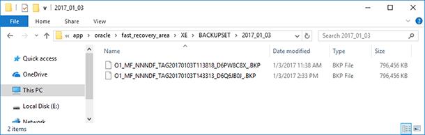 Oracle Database Data: Backup and Restore - Image 21