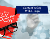 "The Development Rule Book Says ""Content before Web Design"""