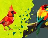 Triangulated Bird: Origami Styled Bird in Adobe Illustrator