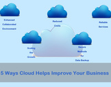 5 Ways Cloud Helps Improve your Business.