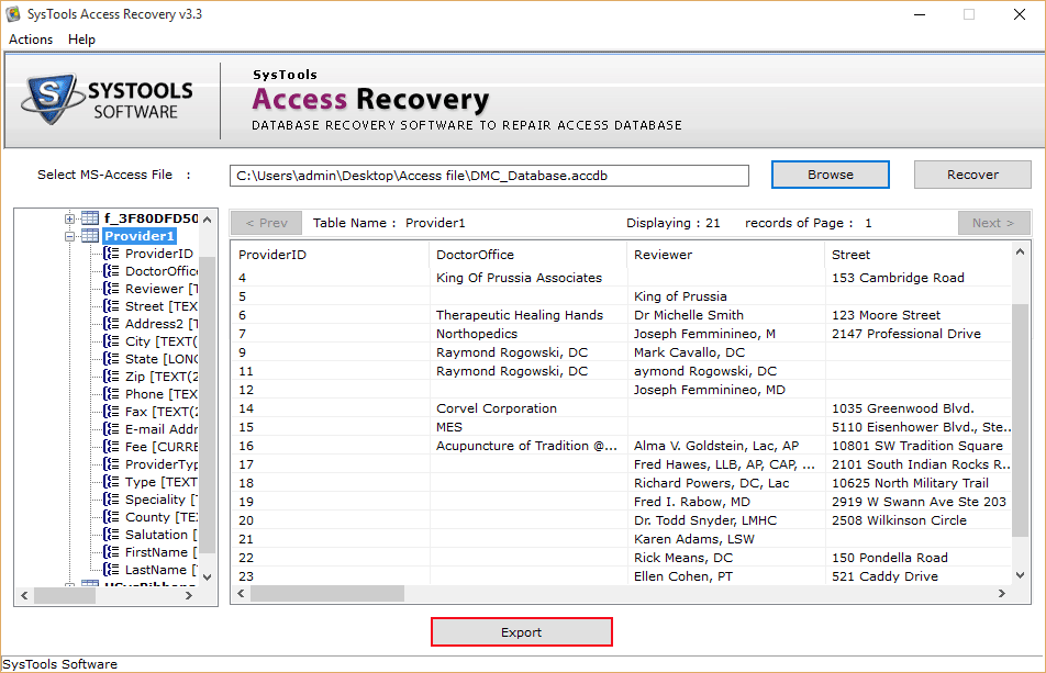 MS Access Database Repair Tool to Fix MDB/ACCDB File Corruption - Image 4