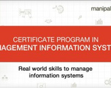 Certificate Program In Management Information Systems