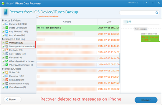 How to Recover Deleted/Lost Text Messages on iPhone with/without Backup - Image 4