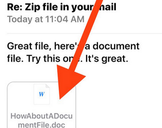 How to Save a Mail Attachment to iBooks in iOS