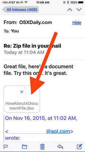 How to Save a Mail Attachment to iBooks in iOS - Image 1