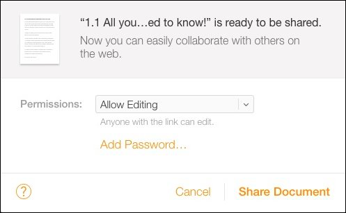 How to Share iWork Documents from iCloud - Image 4