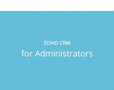 Zoho CRM for Administrators
