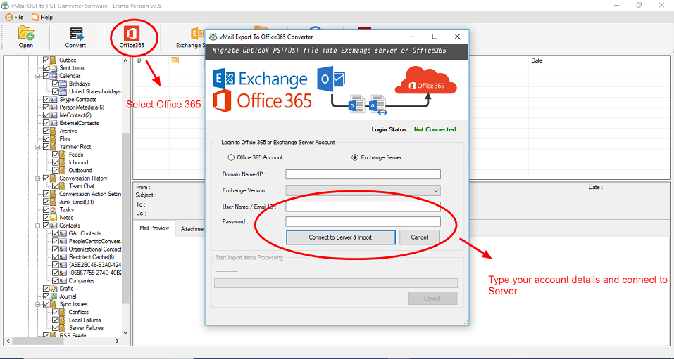 How to import Outlook mailboxes from OST file to Office 365 - Image 4