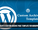 Create a Custom Archive Page Programmatically<br><br>