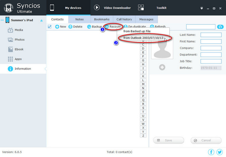 How to Sync Outlook 2003/2007/2010/2013 Contacts with iPhone/iPad Effortlessly - Image 3