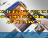 Critical Things you need to know before you Start Mobile app Development