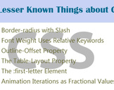 6 Lesser Known Things about CSS