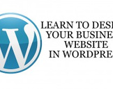 Learn to design your business website in WordPress