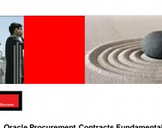 Oracle Procurement Contracts Fundamentals (Oracle EBS R12i)