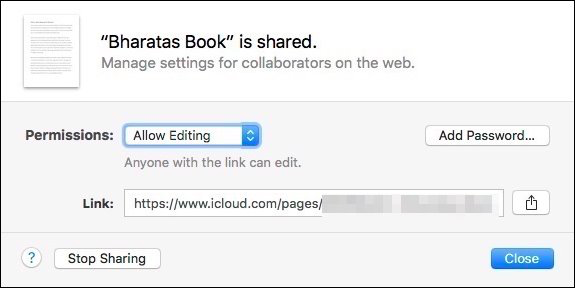 How to Share iWork Documents from iCloud - Image 9