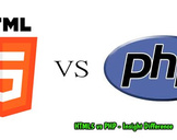 Difference Between PHP and HTML?