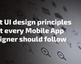 Best UI design principles that every Mobile App Designer should follow: