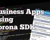 Business Apps Using Corona SDK
