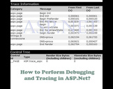 How to Perform Debugging and Tracing in ASP.Net?