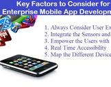 Key Factors to Consider for Enterprise Mobile App Development