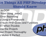 10 Things All PHP Developers Should Know