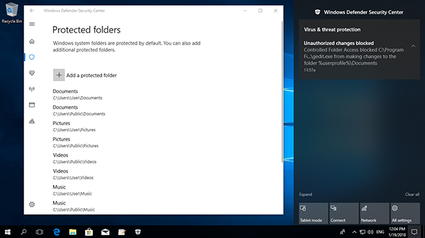 How to Protect Files from Ransomware with Windows 10