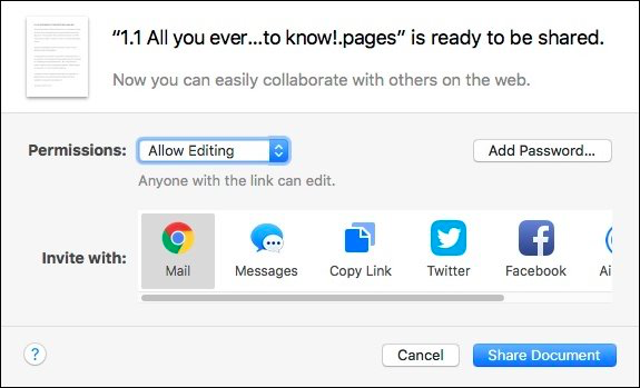 How to Share iWork Documents from iCloud - Image 7