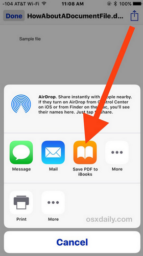 How to Save a Mail Attachment to iBooks in iOS - Image 3