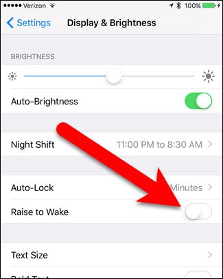 How to Turn Off Raise to Wake in iOS 10 - Image 5