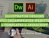 Illustrator Designs to Dreamweaver websites using templates
