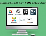 Design websites that sell: learn 7 CMS software from scratch