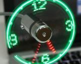 USB LED Clock Fan � Fan with clock
