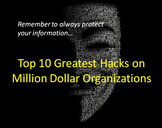 Top 10 Greatest Hacks on Million Dollar Organizations