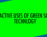 Proactive uses of green screen technology