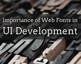Importance of Web Fonts in UI Development