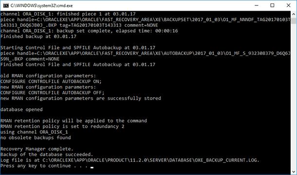 Oracle Database Data: Backup and Restore - Image 20
