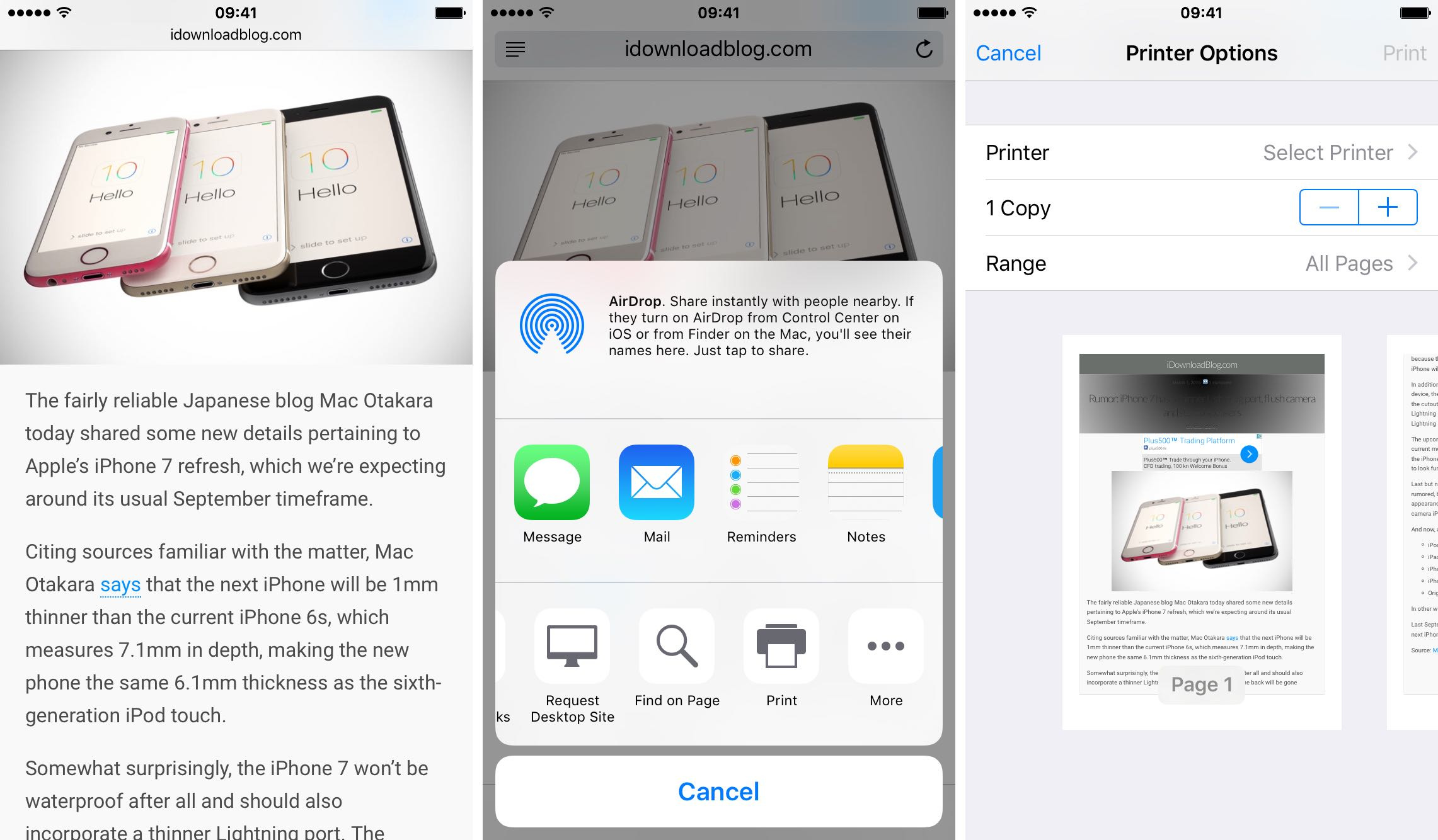 Use 3D Touch to Export PDFs on Your iPhone 6S - Image 2