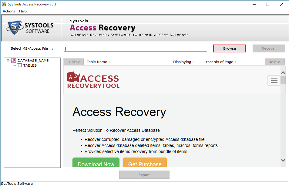 MS Access Database Repair Tool to Fix MDB/ACCDB File Corruption - Image 2